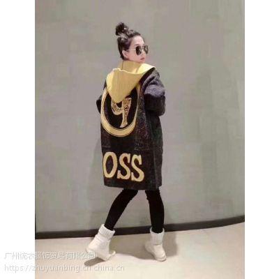 当季新款 羊绒大衣修身款100%羊绒 实拍有模特 广州女装折扣批发 女装尾货批发 长款80cm