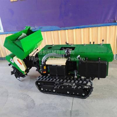 普航 新款遥控式开沟机 果园履带开沟施肥机 小型履带式微耕机厂家