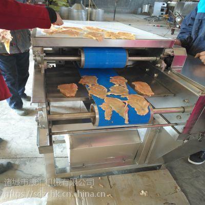 康汇牌鲜肉切片机 鸡大胸连续切片设备 肉制品加工设备