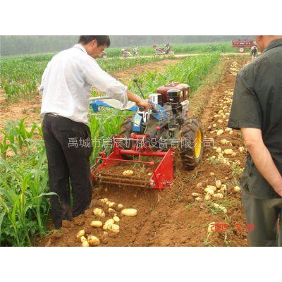 链条带手扶土豆收 60公分土豆收获机 大蒜收获机 13181394759