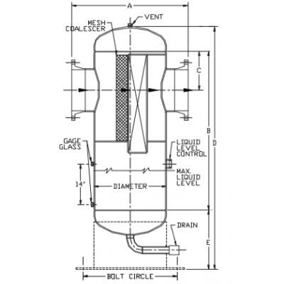 供应高效叶片双袋分离器组合两级气液分离丝网+不锈钢叶片除雾除沫器专业设计