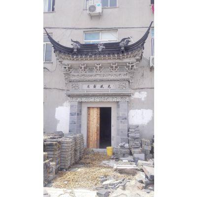 供应砖雕门楼 古建室外人物砖雕门头 广场使用