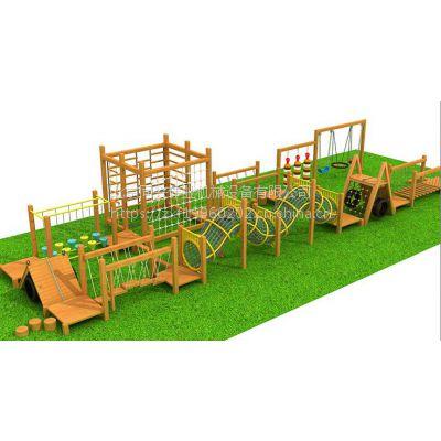 北京同兴伟业直销儿童体能训练、木制组合攀爬、树桩、轮胎墙、多功能爬网