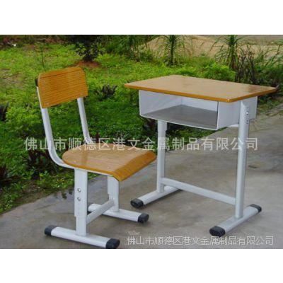 佛山生产销售优质金属中学生课桌椅 学生用课桌椅 学生学习桌椅GW-C25