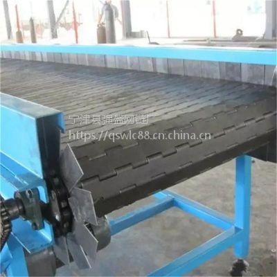 山东强盛专业供应碳钢式链板输送机 小型链板式输送流水线