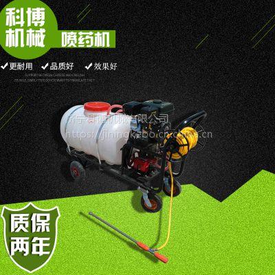 科博菜园自走式打药机 喷幅广四轮车宽幅喷雾机 手推式打药机