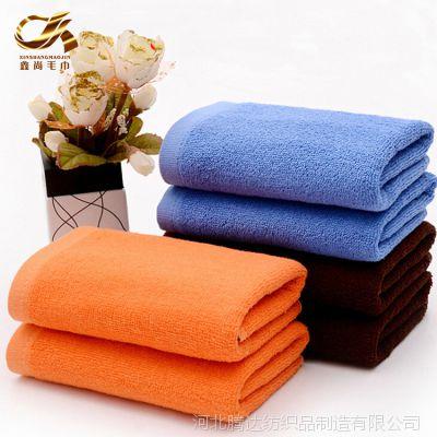 爆款纯色素色火疗毛巾厂家批发 紫蓝咖啡美容院面巾全棉酒店毛巾