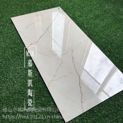 慕斯凯陶瓷通体大理石索菲特金瓷砖400x800别墅客厅餐阳台卫生间内墙砖地砖