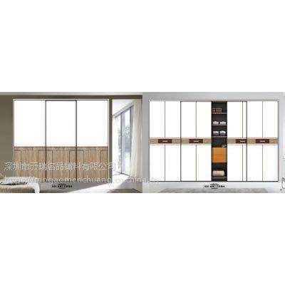 【墨高衣柜门】高端衣柜门定制简约欧式吸塑移门雕刻板推拉