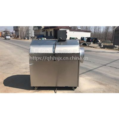 花生瓜子滚筒炒锅机 50型不锈钢燃气炒货机