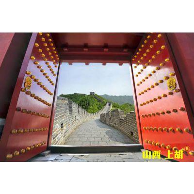 中式木大门,红色中式木大门-山西上胡门厂