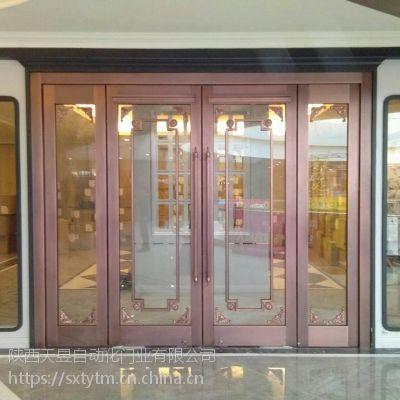 玻璃铜门 商铺常用铜门加工厂家
