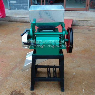 花生米破碎机 家用挤扁机 对辊式花生米破碎机