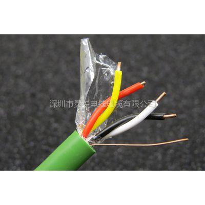 KNXEIB智能楼宇管理总线控制线4芯BUS-EIB-2*2*0.8总线电缆 绿色