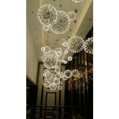 商场天井中庭吊灯厂家批发moooi新款LED满天星灯具星空球楼梯天棚装饰吊灯
