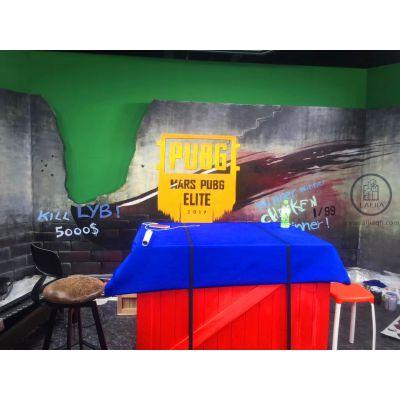 上海墙绘3D立体手绘彩绘涂鸦壁画:直播室、餐厅、健身房