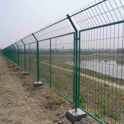茂名工地围地用的护栏网型号 绿色铁丝围栏网价格 湛江框架护栏网现货