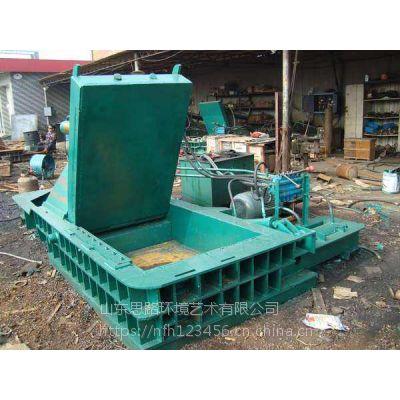 315吨卧式金属压块机多少钱 废钢筋自行车架子压缩打包机 山东思路机械