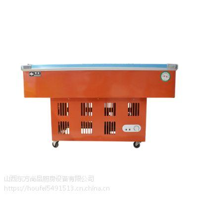 太原商用制冷冷藏保鲜设备山西1.5米卧式岛柜