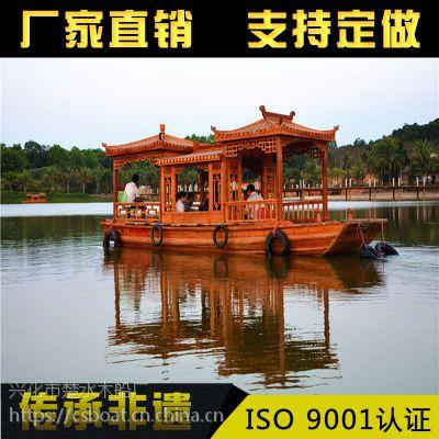 直销画舫船 仿古木船 观光餐饮船 水上房子船 服务类船出售