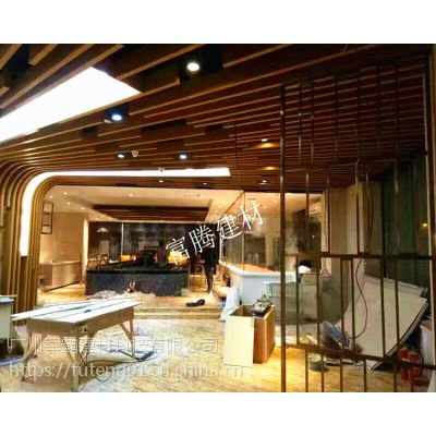 木纹铝方通规格 厂家定做 富腾建材厂家 铝方通吊顶天花