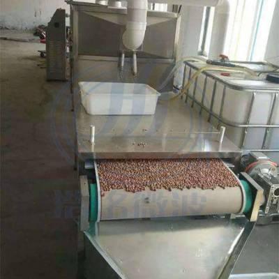 浩铭五香花生微波烘焙设备 微波熟化机 花生烘烤机