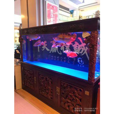 苏州红木中式实木鱼缸定做