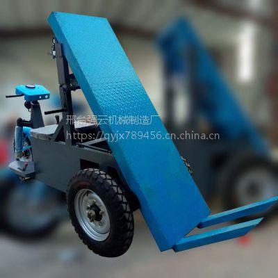 强云机械厂家供应工地电动自卸拉砖车多功能电瓶运输车背砖车价格合理