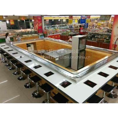 以回转火锅设备为主通过机械旋转传送菜品的自助小火锅店多大