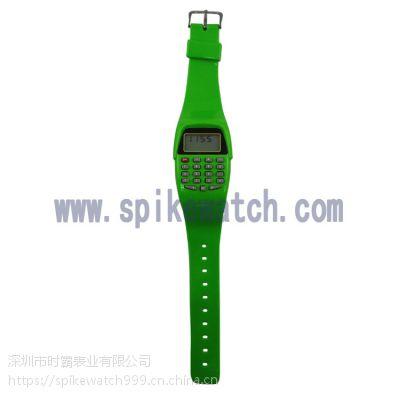 内外贸热销SPIKE时尚爆款儿童多功能计算器电子手表