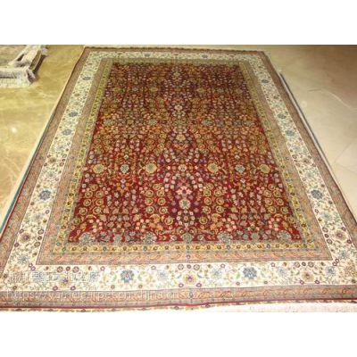 高档伊朗手工真丝波斯地毯