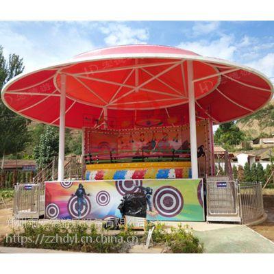 户外儿童游乐园新款热销迪斯科转盘游乐设备螺陀类游艺机旋转大簸箕24座热销
