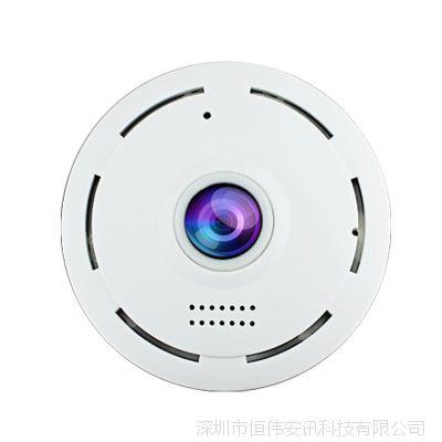 VR全景360度无线wifi探头摄像头一体机 手机远程店铺家用监控器