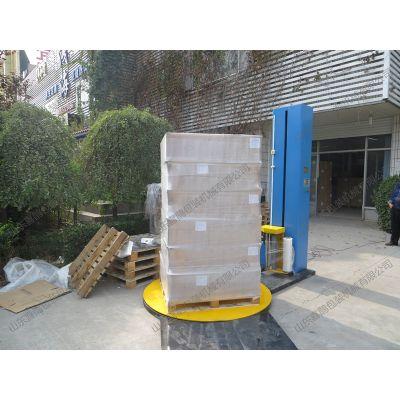 喜鹊托盘缠绕包装机 可节省成本 代替人工 包装美观紧凑 好设备就选山东喜鹊包装机械