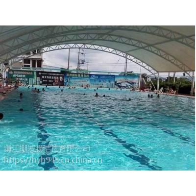 公园膜结构景观棚设计安装露天游泳池膜结构