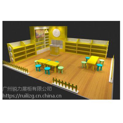 品牌童装展柜 婴童用品专柜 专卖店木质中岛货架制作 卖场展示柜