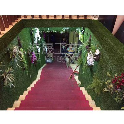 浩晟工艺仿真植物墙 尤加利米兰加厚加密仿真植物墙 pe材质可来图定制