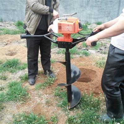二冲程螺旋式挖坑机 植树造林打孔机 葡萄园立柱钻地机