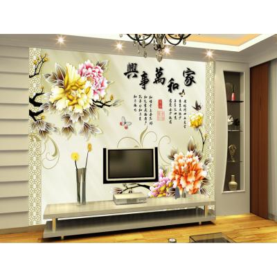 风景图大型壁画 无缝墙布 3D背景墙订制 客厅沙发影视墙订做