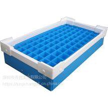 供应厂家直销零部件收纳周转箱 蓝色带刀卡骨架箱-深圳德霖