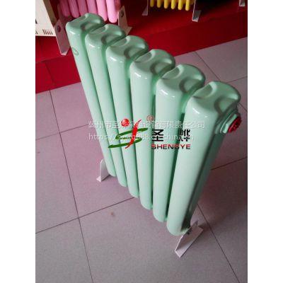 厂家直销钢制暖气片 彩钢散热器 钢柱型四柱水暖散热器
