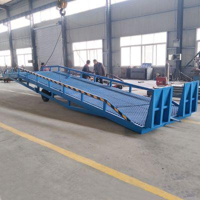 DCQY10吨登车桥 移动液压式手摇升降装卸货平台 坡道过桥厂家直销