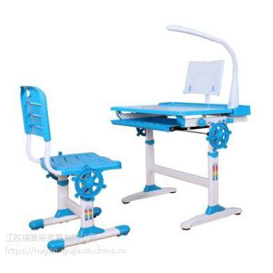 儿童现代简约学习桌椅组合套装 板式可升降防近视靠背桌椅