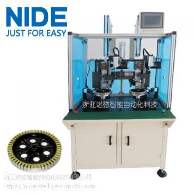 诺德全自动双工位轮毂插纸机,外转子定子槽绝缘纸插入机器设备