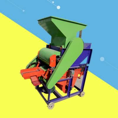 鹤壁市新型木辊花生种子剥皮机 启航牌环保型落花生去壳机 无尘花生脱壳机生产厂家
