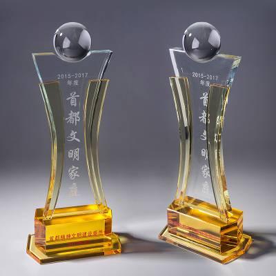 钻石小金人奖杯,年会活动奖品,文化艺术节纪念品,银川水晶奖杯批发