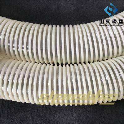 山东山实抗静电塑筋通风排气管 阻燃伸缩软管 聚氨酯进口塑筋增强软管