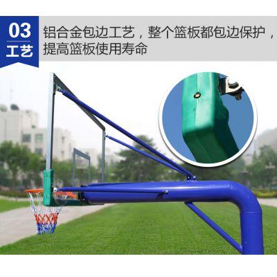 南宁户外成人篮球架地埋篮球架室外国家标准固定圆管篮球架钢化玻璃《南宁飞跃体育专营店》