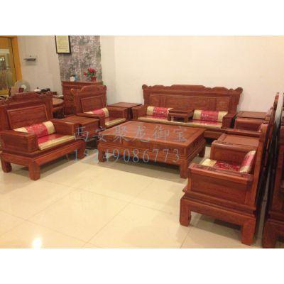 中式沙发组合-实木仿古沙发厂家直销-老榆木沙发价格
