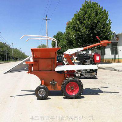 四轮拖拉机前置带掰玉米机 小型棒子收获机 小块地汽油玉米收获机价格